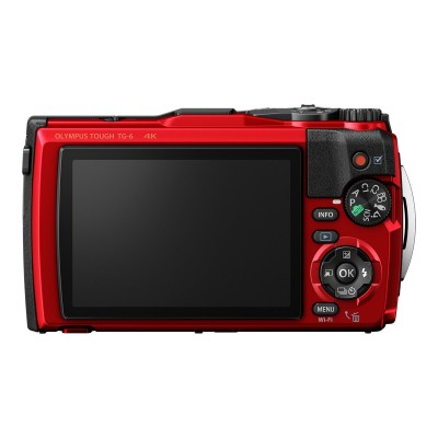 Olympus V104210RU000 Tough TG-6 - Digital camera - compact - 12.0 MP - 4K / 30 fps - 4x optical zoom - Wi-Fi - underwater up to 45 ft - red