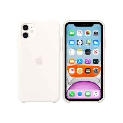 Apple MWVX2ZM/A iPhone 11 Silicone Case - White