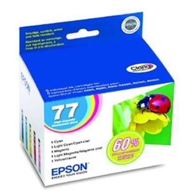 Epson T077920 Multipack 77 - High Capacity - yellow  cyan  magenta  light magenta  light cyan - original - ink cartridge - for Artisan 50  Stylus Photo R260  R2
