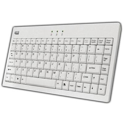 Adesso AKB-110W EasyTouch Mini Keyboard - USB + PS/2 - White