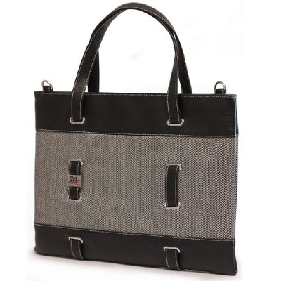 Mobile Edge MEWHUT 14.1 Herringbone Ultrabook Tote - Black/White